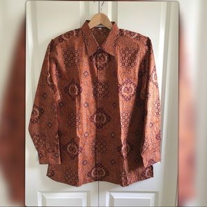Batik Keris Authentic Indonesian batik men shirt